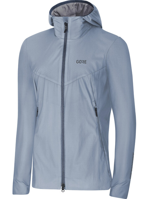 GORE WEAR W's H5 Gore Windstopper Insulated Hooded Jacket Cloudy Blue/Deep Water Blue